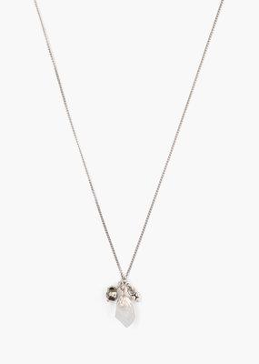 CHAN LUU Moonstone Rough Cut Necklace