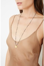 CHAN LUU Salmon Mix Seed Bead Charm Necklace