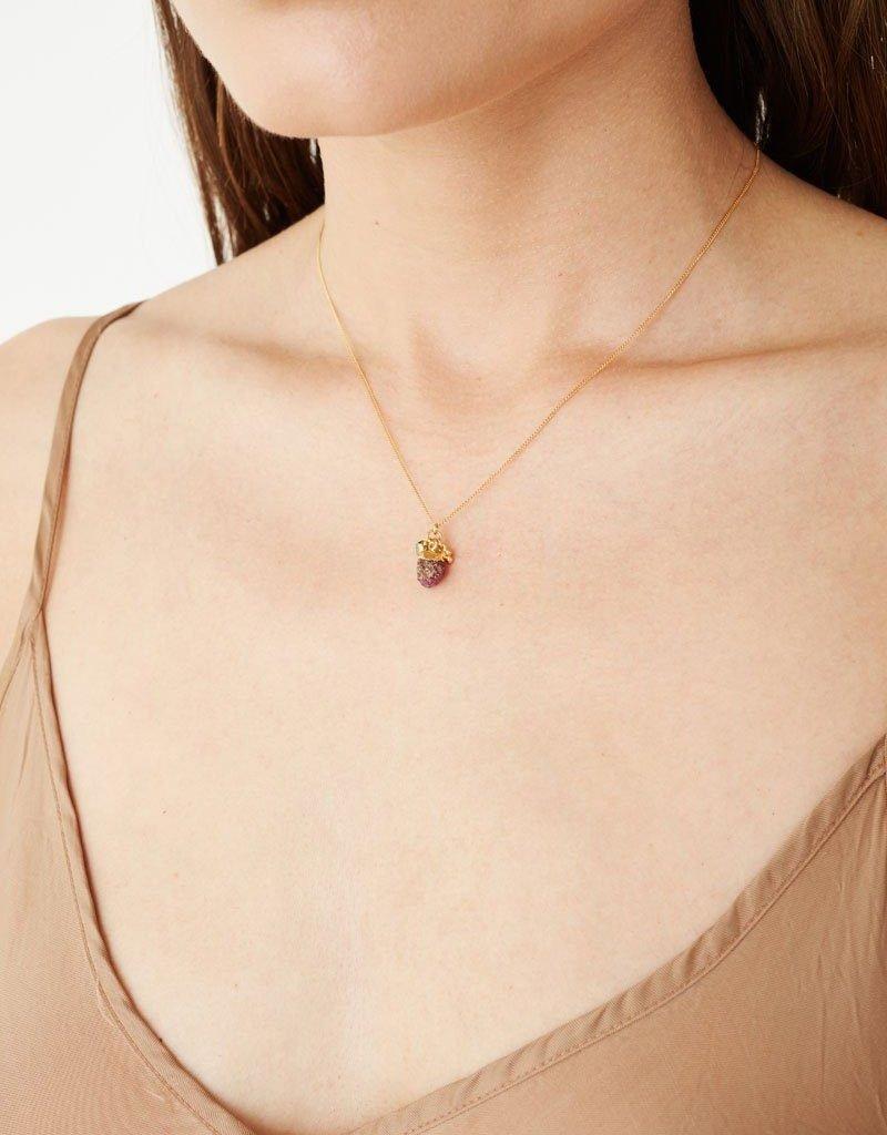 CHAN LUU Ruby Rough Cut Necklace