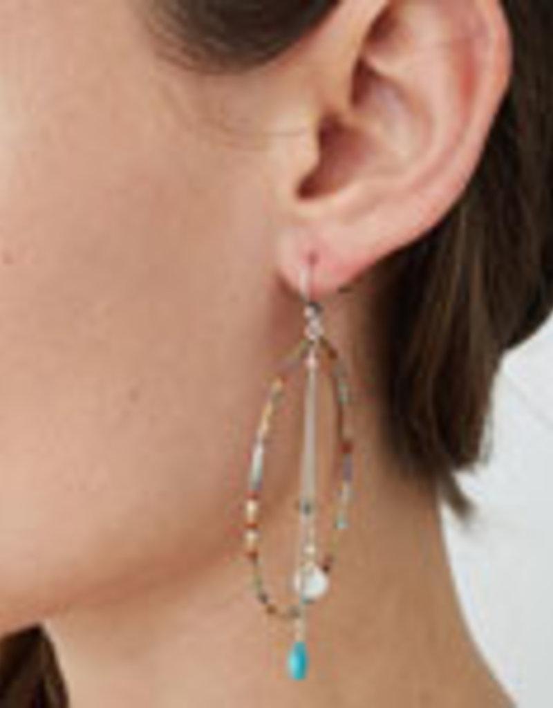 CHAN LUU Seafoam Mix Hoop Earrings