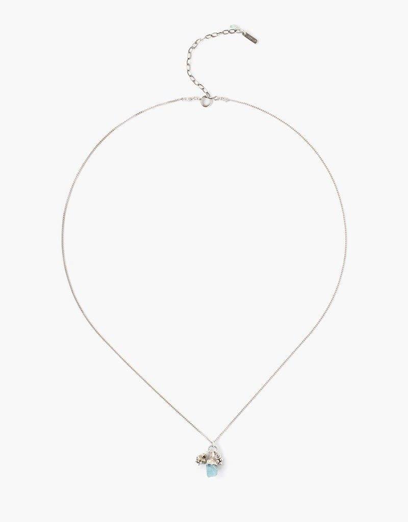 CHAN LUU Green Apatite Rough Cut Necklace