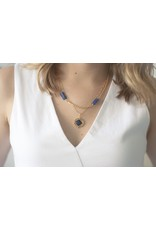 Michelle Starbuck Abalone Mini Theorem Gold Necklace
