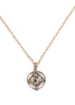 Michelle Starbuck Dalmatian Jasper Mini Theorem Necklace