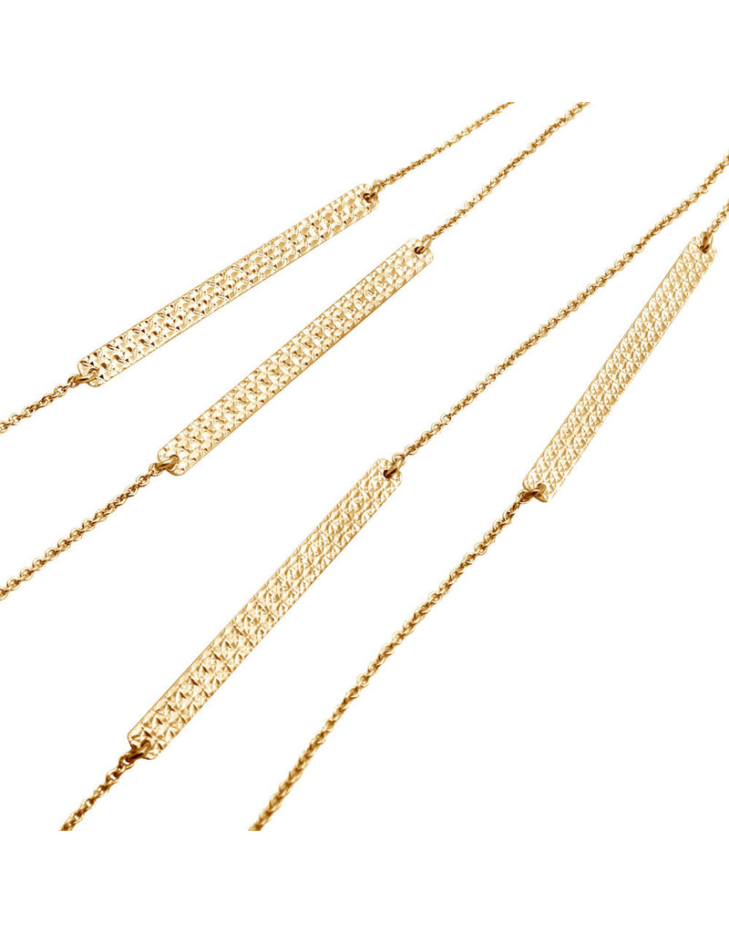 Sterling Gold Plated Chain with Bars Necklace