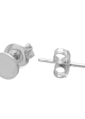 Qualita In Argento Sterling Silver Simple Circle Studs
