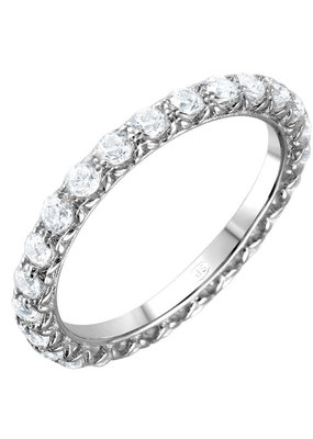 Sterling Silver Clear CZ Halo Band