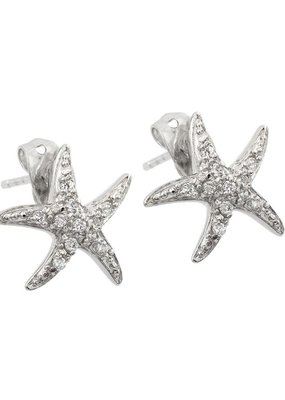 Qualita In Argento Sterling Silver Starfish Studs
