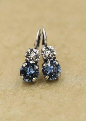 Rachel Marie Sarah Clear & Blue Swarovski Earring Adeline
