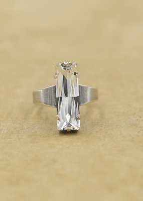 Rachel Marie Bethany Clear Baguette Ring