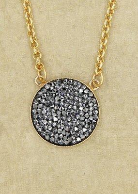 Rachel Marie Ember Gold & Crystal Rocks Necklace