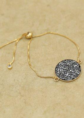 Rachel Marie Ember Gold & Crystal Rocks Bracelet