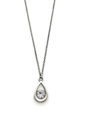 Rachel Marie Callie Teardrop Swarovski Necklace Clear