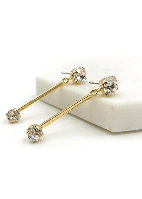 Rachel Marie Bridget Gold & Clear Swarovski Earrring