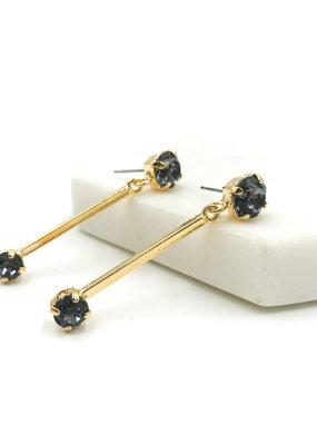 Rachel Marie Bridget Gold & Silver Night Swarovski Earrring
