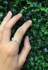 Sterling Silver Marquis & Rectangle CZ Ring