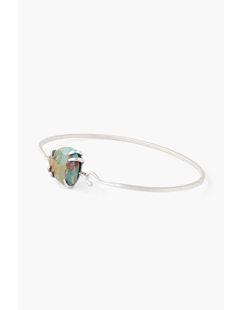 CHAN LUU Silver Green Turquoise Bracelet