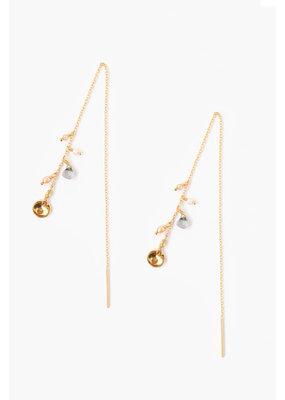 CHAN LUU Gold  Labradorite & Pearl Threaders