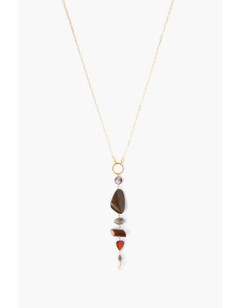 CHAN LUU Citrine Graduated Semi-Precious Stone Necklace