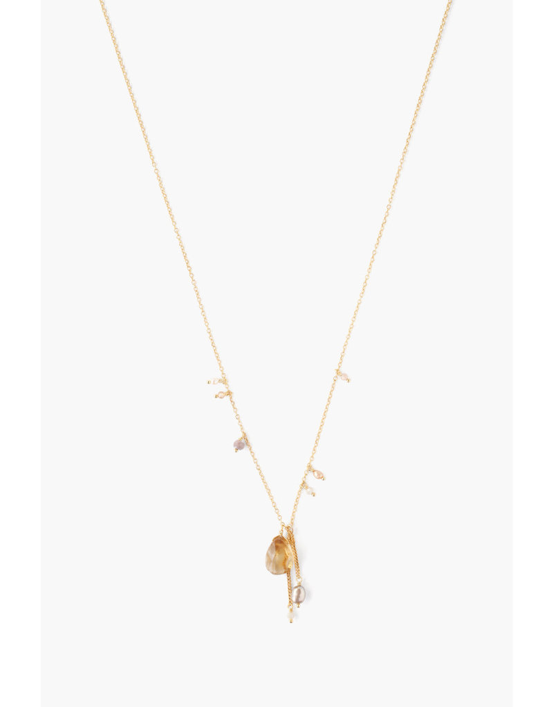 CHAN LUU Gold Citrine Mix Necklace