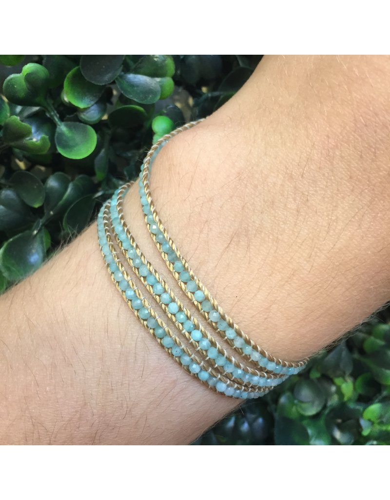 CHAN LUU Amazonite Three Wrap Bracelet
