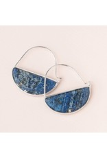Scout Lapis & Silver Stone Prism Hoop