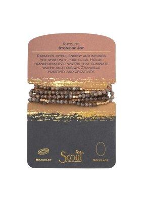 Scout Rhyolite & Gold Stone Wrap