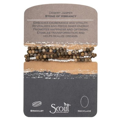 Scout Desert Jasper & Silver Stone Wrap