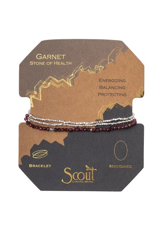 Scout Garnet & Silver Delicate Stone Wrap