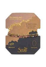 Scout Tourmaline Gold Delicate Stone Wrap