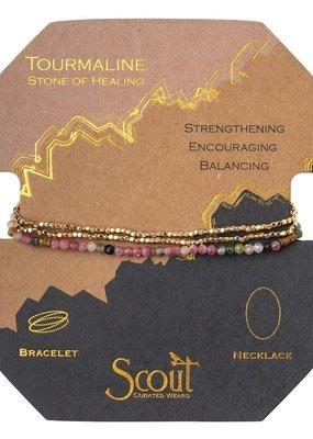 Scout Tourmaline & Gold Delicate Stone Wrap