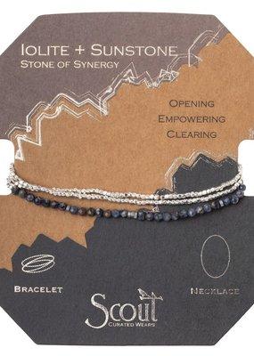 Scout Iolite Sunstone & Silver Delicate Stone Wrap