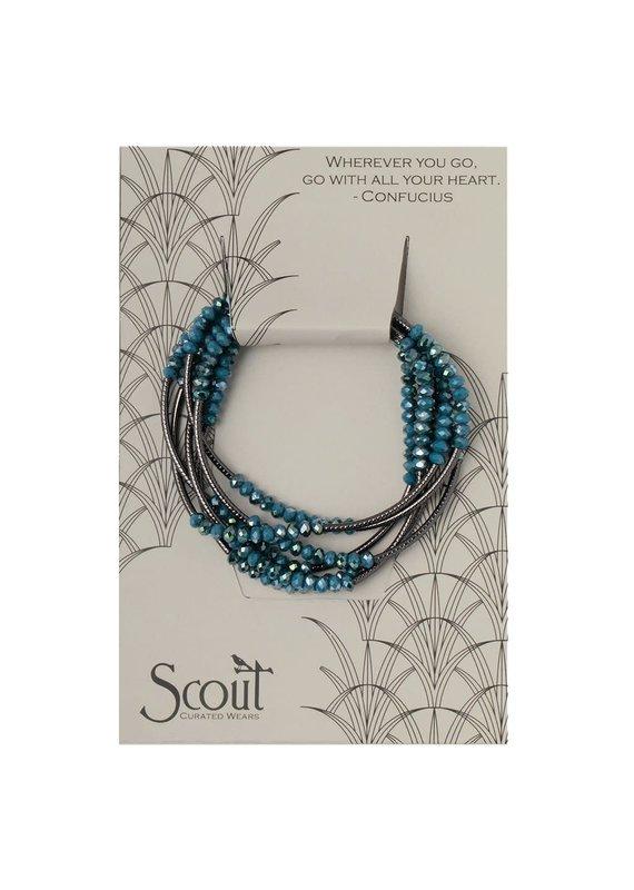 Scout Peacock & Hematite Wrap