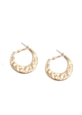 Splendid Iris Gold Wide Medium Hoops