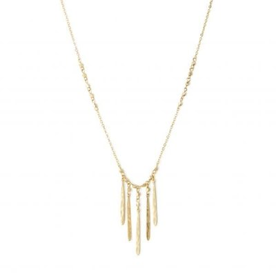 Splendid Iris Gold 5 Narrow Finds On Metal Bead Accented Chain