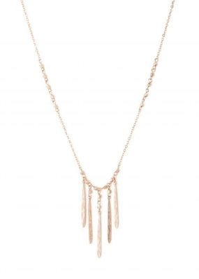 Splendid Iris Rose Gold 5 Narrow Finds On Metal Bead Accented Chain
