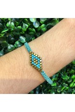 Didi Jewerly Project Turquoise Striped Diamond Pull Bracelet