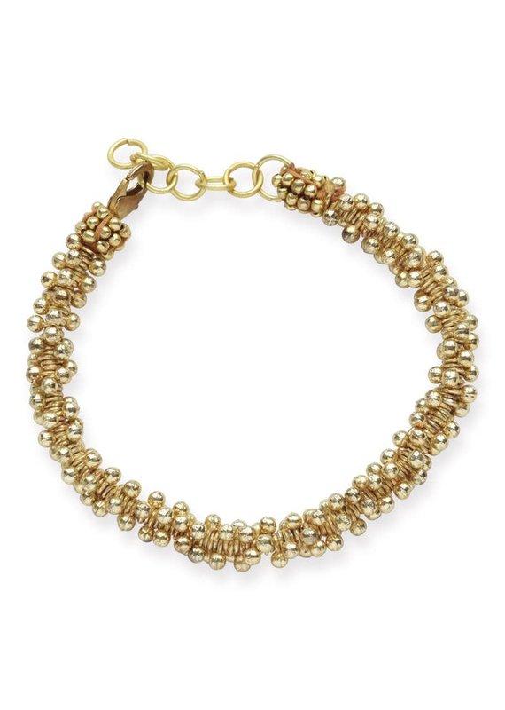Ink + Alloy Brass Bead Cluster Bracelet