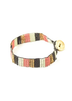 Ink + Alloy Mint Terra Cotta Gold Black Friendship Bracelet