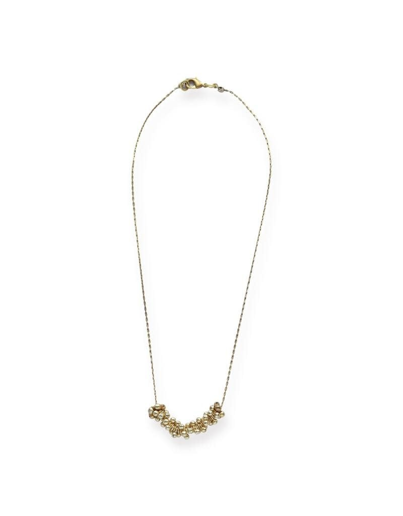 Ink + Alloy Mini Brass Cluster Necklace