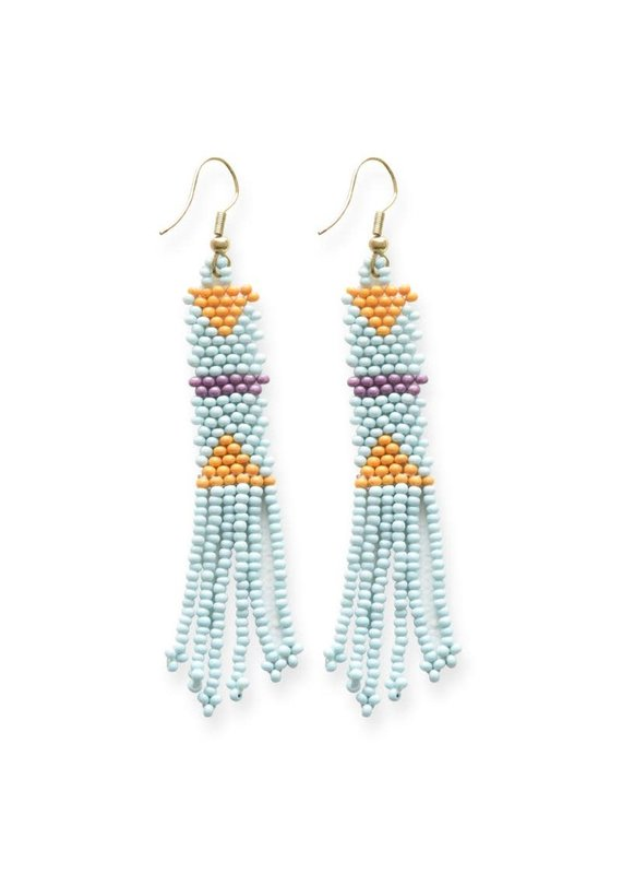 Ink + Alloy Light Blue Petite Fringe Seed Bead Earrings