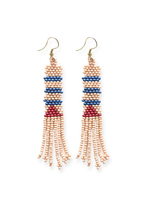 Ink + Alloy Pink Petite Fringe Seed Bead Earrings