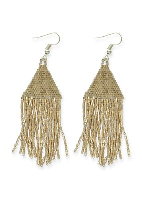 Ink + Alloy Metallic Gold Luxe Petite Fringe Earring