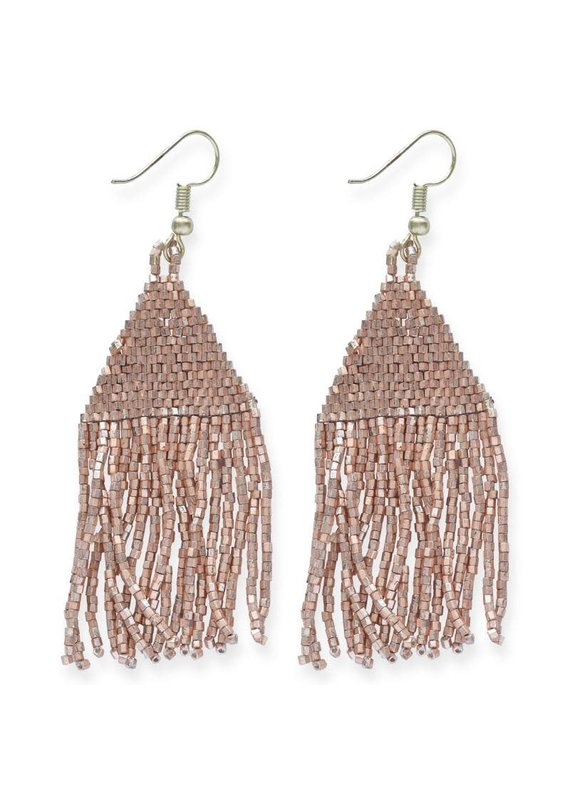 Ink + Alloy Metallic Rose Luxe Petite Fringe Earring