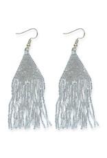 Ink + Alloy Metallic Silver Luxe Petite Fringe Earring