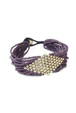 Ink + Alloy Port With Gold Diamond Seed Bead Bracelet