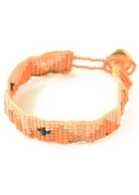 Ink + Alloy Tumeric & Pink Petite Seed Bead Bracelet