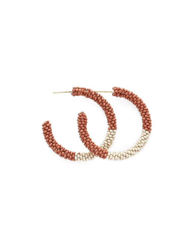 Ink + Alloy Rust & Ivory Small Color Block Hoop