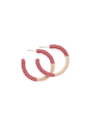 Ink + Alloy Terra Cotta & Pink Small Color Block Hoop