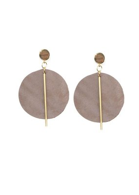 Ink + Alloy Purple Leather Circle Earrings