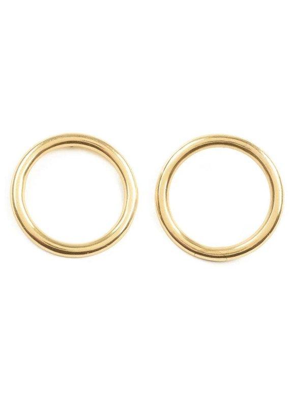 Ink + Alloy Brass Ring Earrings